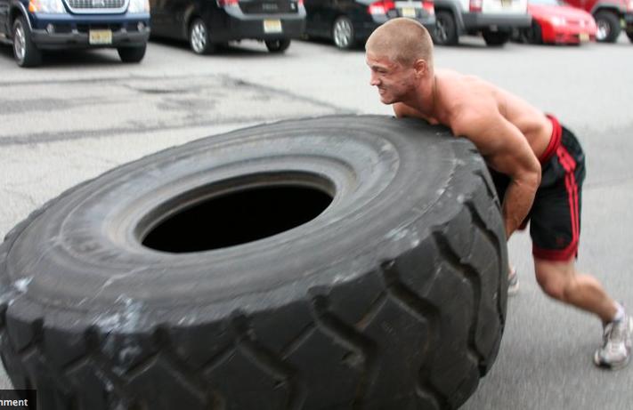 tire flip Wags