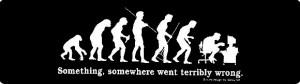 The DE Evolution of Man