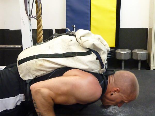 Jim - pushup wih 55# rucksack