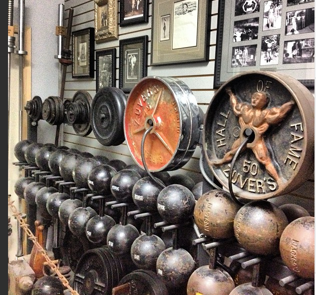 A lil' glimpse inside the back room at Sorinex HQ where RARE Zuver's Gym Plates & Iron History Truly LIVES!
