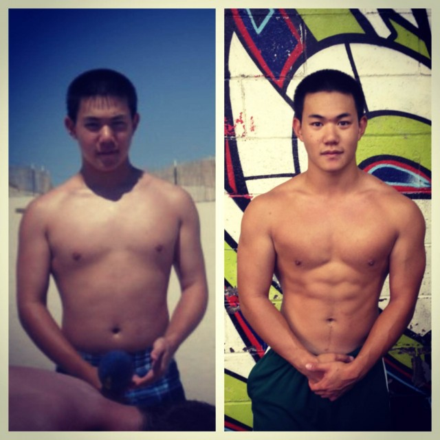 Chris Lee Before & After. Both Pics are SAME bodyweight, 178 lbs. 20 X Stronger, Tougher & Faster