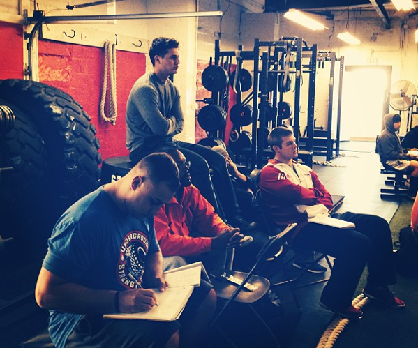 The Coaches from The Underground Strength Gym, learning, learning & LEARNING!