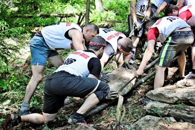 Building the 1 Mile Stone Staircase during The Death Race.