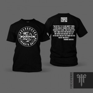 """Dare Mighty Things"" – Underground Strength Nation T Shirt"