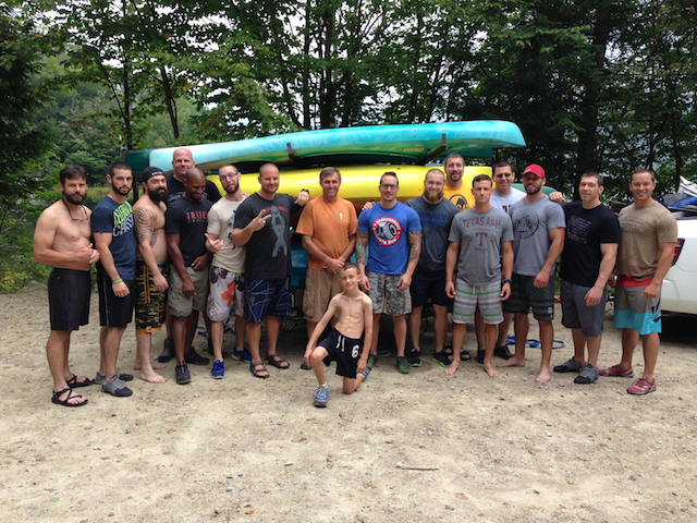 The Crew after a rafting trip during the USC Spartan Mastermind.