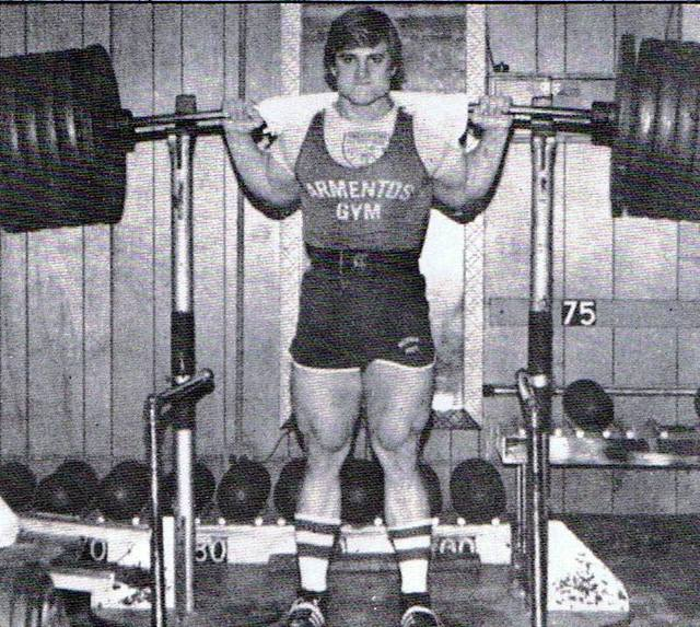 THE Photo of Tom Platz that Was Hung In Front of the Squat Rack at Diamond Gym!