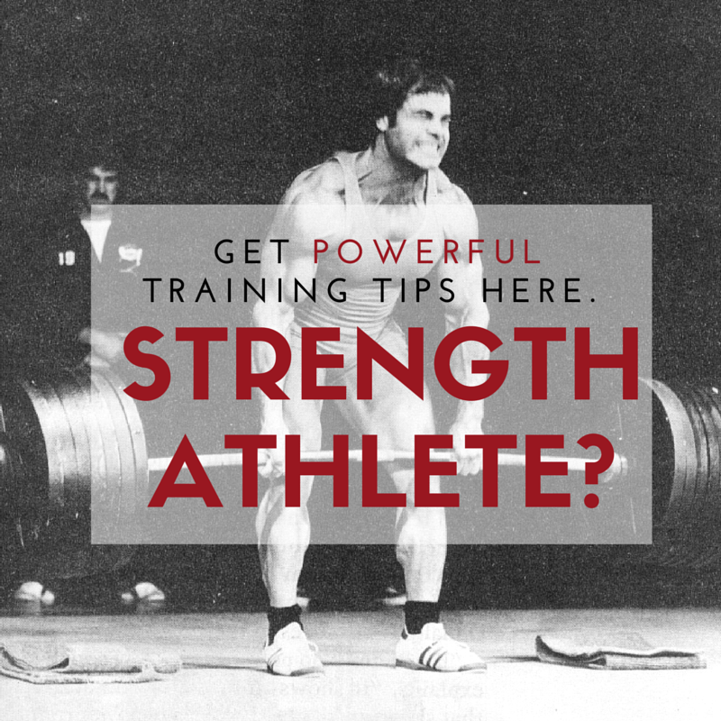 strength athlete ad