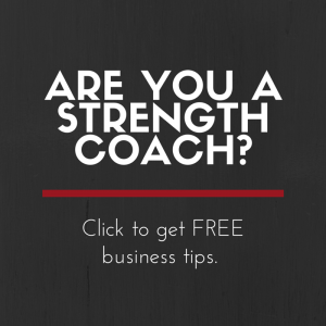 strength coach ad